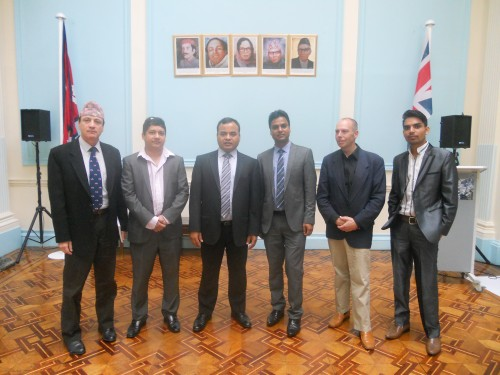 Embassy of Nepal - UKNFS meeting group photo June 2014