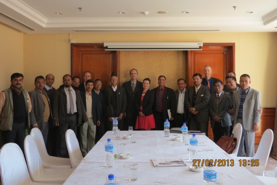 February 2013: UKNFS lead officers with members of Bournemouth University delegation