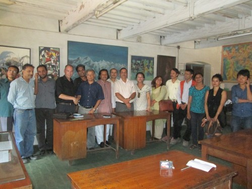 UKNFS team workshop at the Lalit Kala Arts Campus