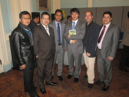 NRNA President & UKNFS officers at Embassy of Nepal