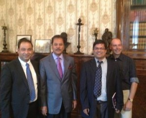 UKNFS chief officers with his Excellency Dr Suresh Chalise