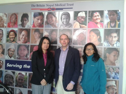 At the Britain Nepal Medical Trust office, Lazimpat Kathmandu