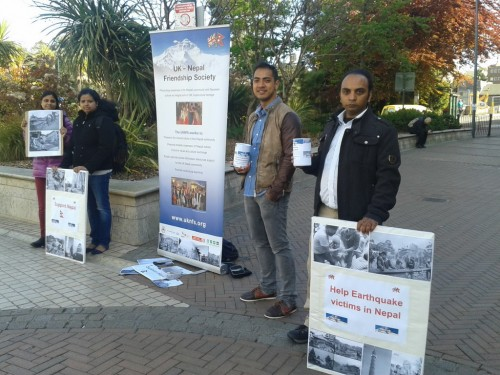 UKNFS Fundraising in Bournemouth square for Earthquake Support Relief