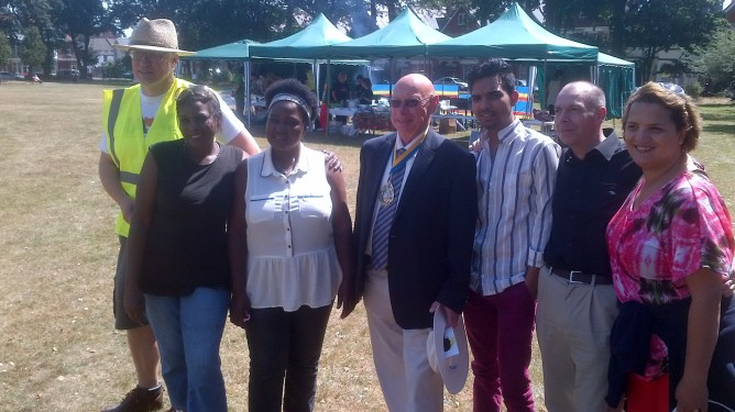 With the Its All About Culture Group in Boscombe-Bournemouth at their Summer BBQ 2014