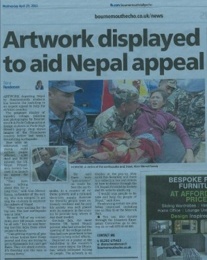 Bournemouth Echo article on Nepal International Arts Programme