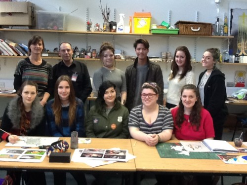 BPC student group & teacher Faye -- in early stage of the NIAP project at the college