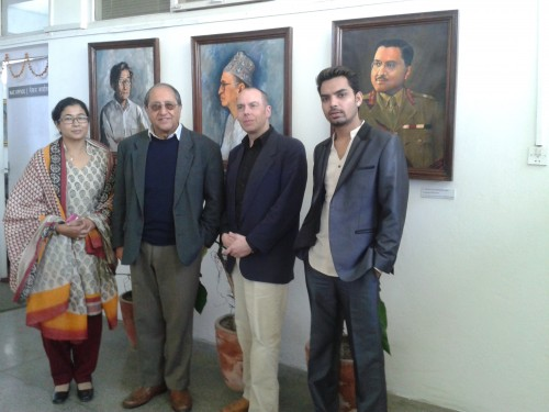 At Nepal Arts Council with Mr Sagar Rana NAC Vice President, Swosti Rajbhandari NAC Curator, Deepak Tamrakar and Alan Mercel-Sanca meeting image