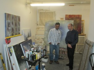 9 -- With Govinda Sah at his studio in Brixton