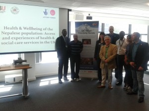 BU UK Nepali healthcare report launch group image