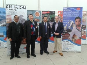 with Acting ambassador of Nepal to the UK and Embassy team at Bournemouth & Poole College NIAP project private viewing
