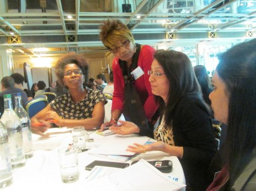 Dr Bibha Simkhada, UKNFS Equality in Health and Social Care Project Principal Investigator at a workshop session of the NHS BME Network Conference 2014