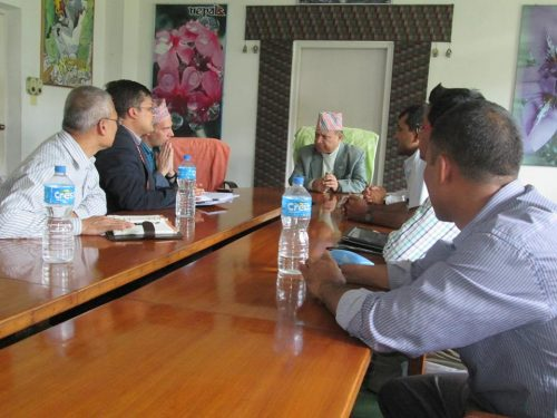 UKNFS meeting with the Minister of Tourism, KTM, Summer 2013